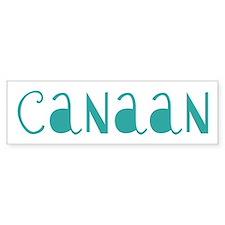 Canaan (fun blue) Bumper Bumper Sticker