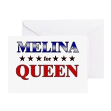 MELINA for queen Greeting Card