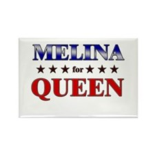 MELINA for queen Rectangle Magnet