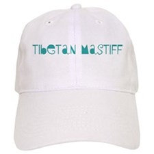 Tibetan Mastiff (fun blue) Baseball Cap