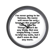 Cool Parker quote Wall Clock