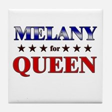 MELANY for queen Tile Coaster