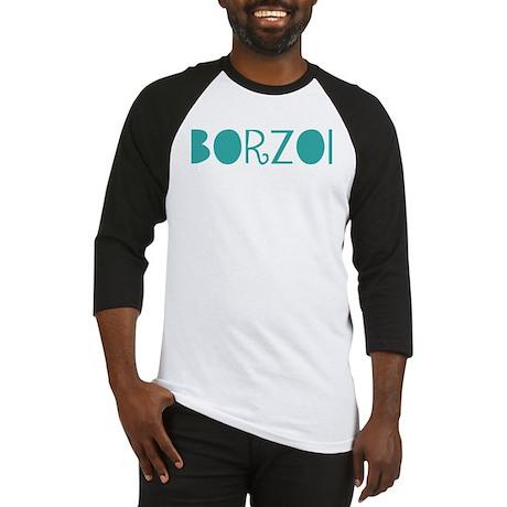 Borzoi (fun blue) Baseball Jersey