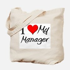 I Heart My Manager Tote Bag