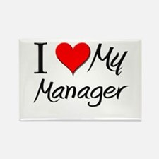 I Heart My Manager Rectangle Magnet