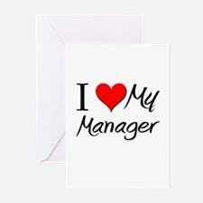 I Heart My Manager Greeting Cards (Pk of 10)