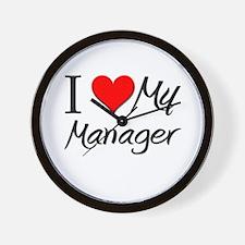 I Heart My Manager Wall Clock