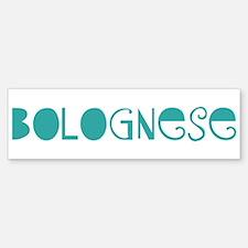 Bolognese (fun blue) Bumper Car Car Sticker