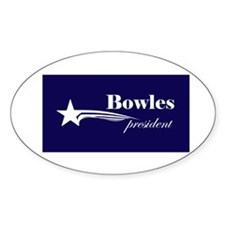 John Taylor Bowles president Oval Decal