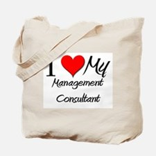 I Heart My Management Consultant Tote Bag