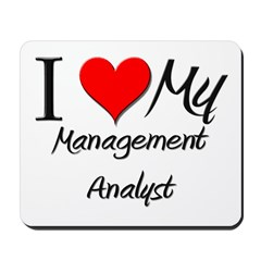 I Heart My Management Analyst Mousepad