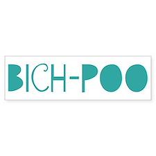Bich-Poo (fun blue) Bumper Bumper Sticker