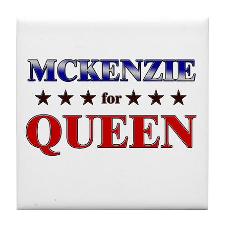 MCKENZIE for queen Tile Coaster