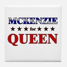 MCKENZIE for queen Tile Coaster