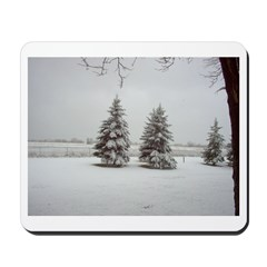 Snow on Trees Mousepad