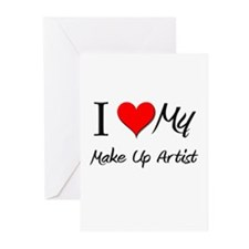 I Heart My Make Up Artist Greeting Cards (Pk of 10