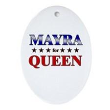 MAYRA for queen Oval Ornament