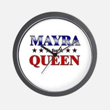 MAYRA for queen Wall Clock