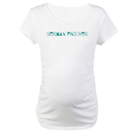 German Pinscher (fun blue) Maternity T-Shirt