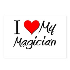 I Heart My Magician Postcards (Package of 8)