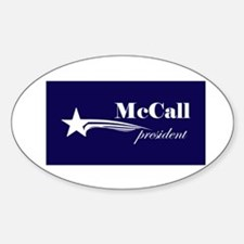 James H. McCall president Oval Decal