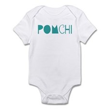 Pomchi (fun blue) Infant Bodysuit