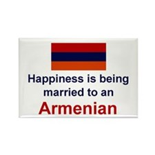 Happily Married To Armenian Rectangle Magnet