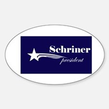 Joe Schriner president Oval Decal