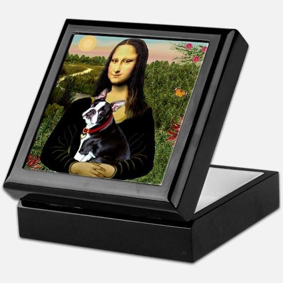 Mona Lisa's Boston Terrier Keepsake Box