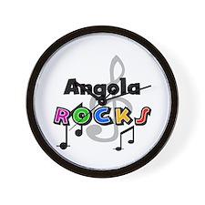 Angola Rocks Wall Clock