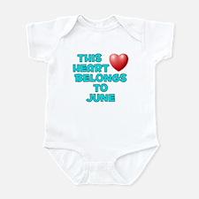 This Heart: June (E) Infant Bodysuit