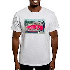 Red Studebaker on Ash Grey T-Shirt