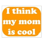 I think my mom is cool Small Poster