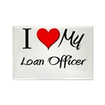 I Heart My Loan Officer Rectangle Magnet (10 pack)