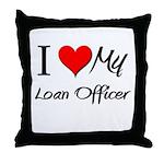 I Heart My Loan Officer Throw Pillow