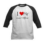 I Heart My Loan Officer Kids Baseball Jersey