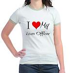 I Heart My Loan Officer Jr. Ringer T-Shirt