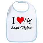 I Heart My Loan Officer Bib