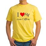 I Heart My Loan Officer Yellow T-Shirt