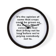 Jones quotation Wall Clock