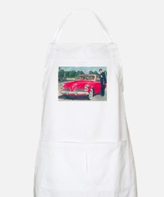 Red Studebaker on BBQ Apron