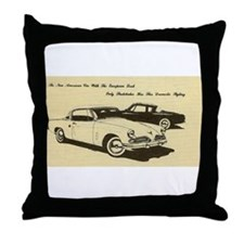Two '53 Studebakers on Throw Pillow