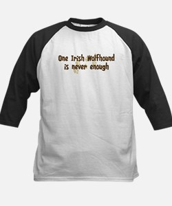 Never enough: Irish Wolfhound Kids Baseball Jersey