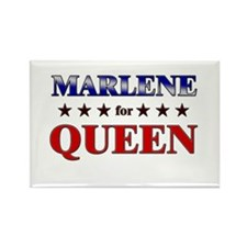 MARLENE for queen Rectangle Magnet