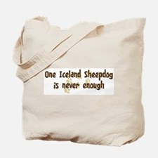 Never enough: Iceland Sheepdo Tote Bag
