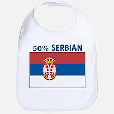 50 PERCENT SERBIAN Bib