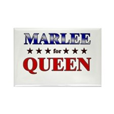 MARLEE for queen Rectangle Magnet