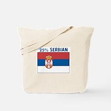 25 PERCENT SERBIAN Tote Bag