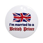 Married To British Prince Ornament w/ribbon