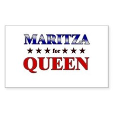 MARITZA for queen Rectangle Decal